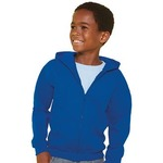 Heavyweight blend youth full zip hooded sweatshirt